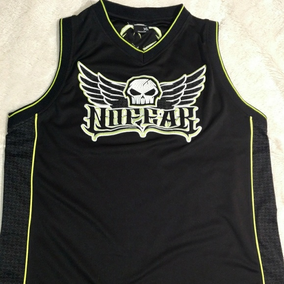 c979df3081c8 No fear Sleeveless Embroidered Skull Jersey. M_5a6e7fc7739d4843c71ad368
